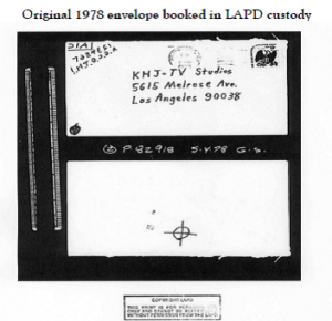 1978 Zodiac Killer Envelopes Steve Hodel