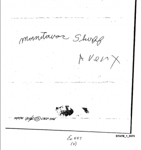 Anonymous Letter November 2005 Steve Avery to Manitowac Sheriff front page