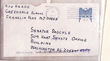 Anthrax Envelope Ton Daschle