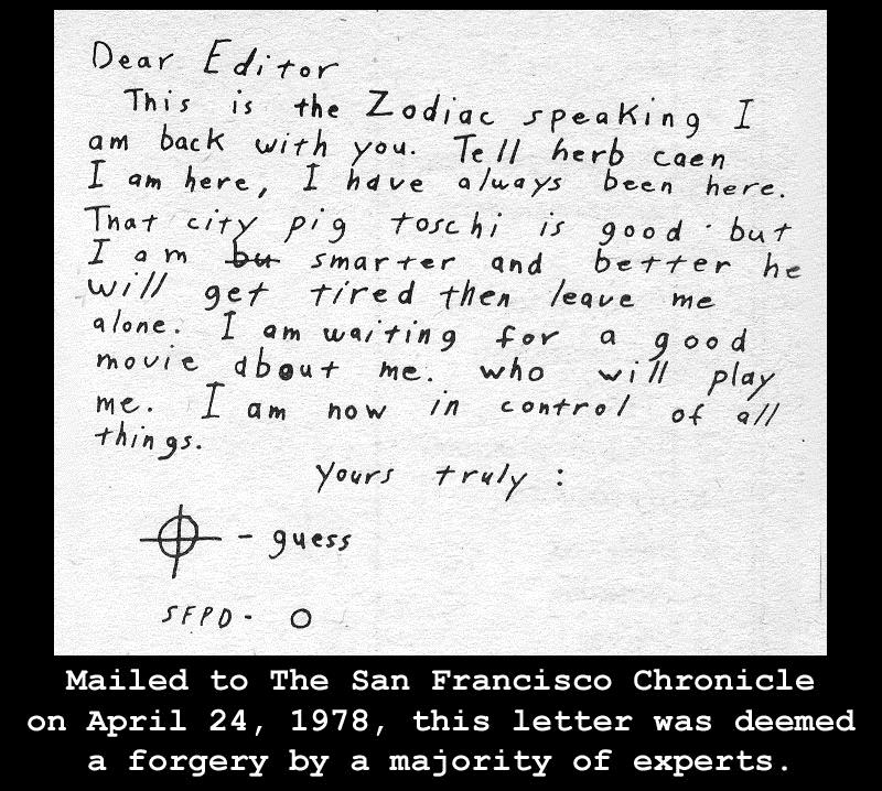 April 24 1978 Zodiac Letter