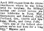 Billings Gazzette March 9 1956 Edwards Robberies in California