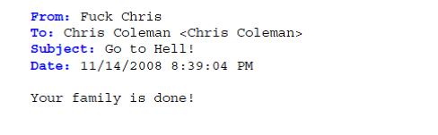 Coleman Threat 3 November 14 2008