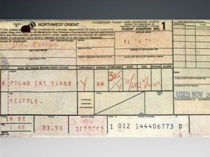 DB Cooper Plane Ticket