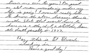 Edwards' 2010 Letter Claiming there are Other Murders