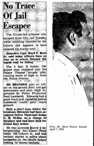 Edwards Escapes April 7 1955