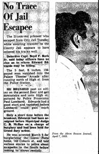 Edwards Escapes April 7 1955