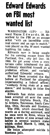 Edwards on FBI Most Wanted