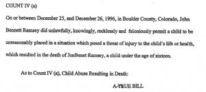 John Ramsey Indictment