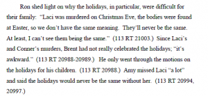 Laci Petersons Father Ron about Christmas and Easter