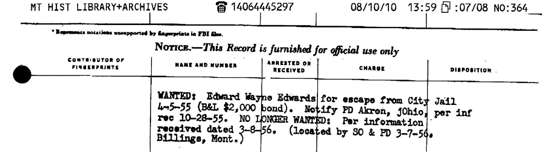 Montana records 3