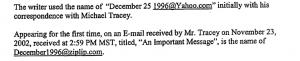 November 23 2002 Email jonBenet Ramsey