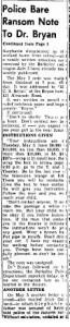 Ransom Note Revealed 1955