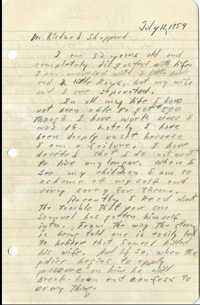 Sam Letter 1