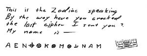 Zodiac 13 Identity Cipher