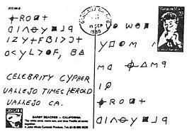 Zodiac Killer Celebrity Cipher Spetember 25 1990