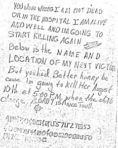Zodiac Killers Albany Letter