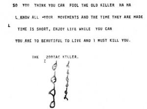 Zodiackiller Letter November 21 1969